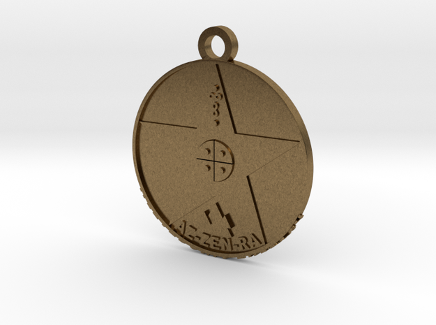 Metatronia Therapy Pendant w/ Large Bale in Natural Bronze