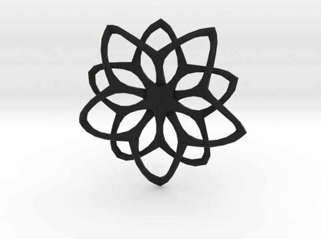 Flower Loops Pendant 3d printed