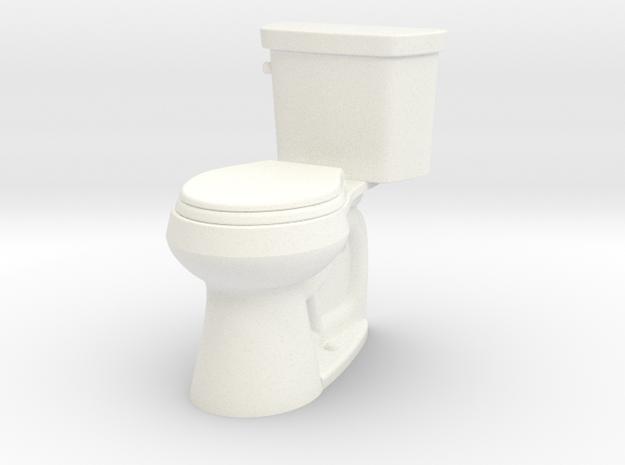 Toilet  in White Processed Versatile Plastic