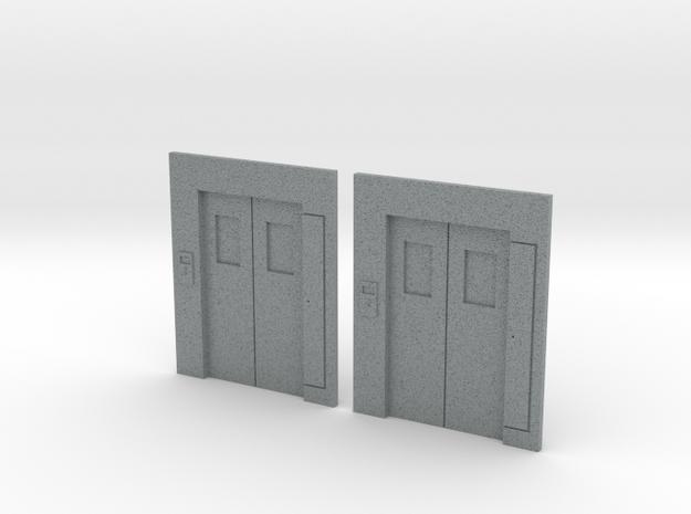 B-03 Lift Entrances - Type 3 (Pair) in Polished Metallic Plastic