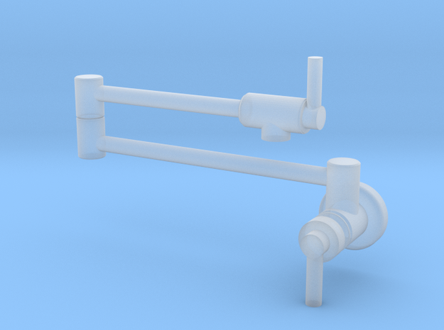 Pot Filler: Side Contemporary (Stationary) in Smooth Fine Detail Plastic