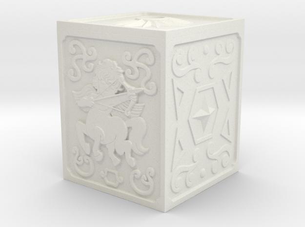 Sagittarius Armor Box Key Chain in White Natural Versatile Plastic