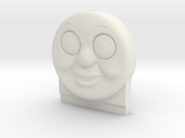 Thomas the Tank face, for Siege/Earthrise Astrotra in White Natural Versatile Plastic