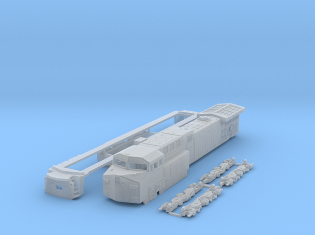 AC4400cw TT scale (1:120) in Smooth Fine Detail Plastic