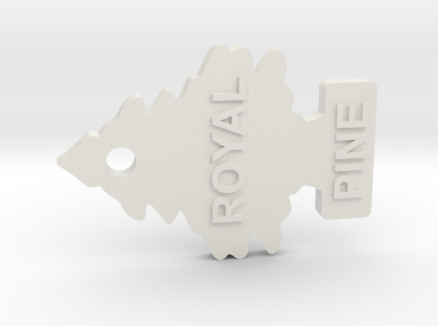 Scale Air freshner Royal Pine 1:10 scale in White Natural Versatile Plastic: 1:10