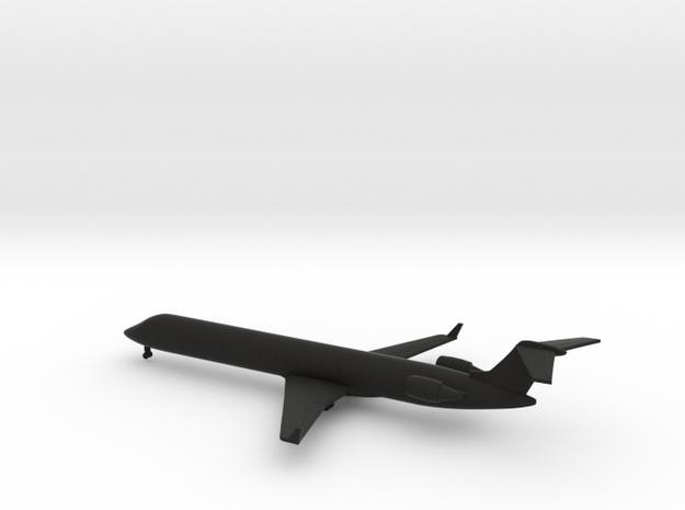 Bombardier CRJ900 in Black Natural Versatile Plastic: 1:350