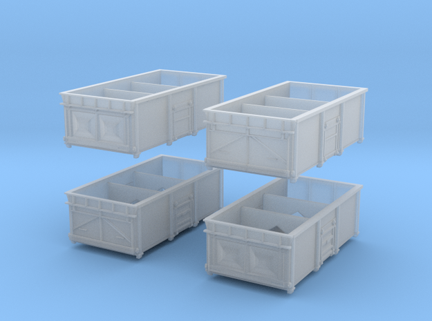 Set of 4 BR 16t 1/102 mineral wagons in Smoothest Fine Detail Plastic