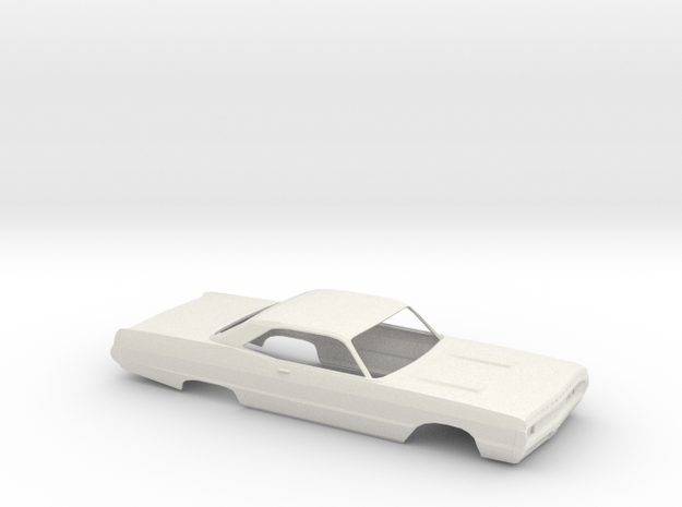 1/25 1970 Plymouth Fury Coupe Shell in White Natural Versatile Plastic