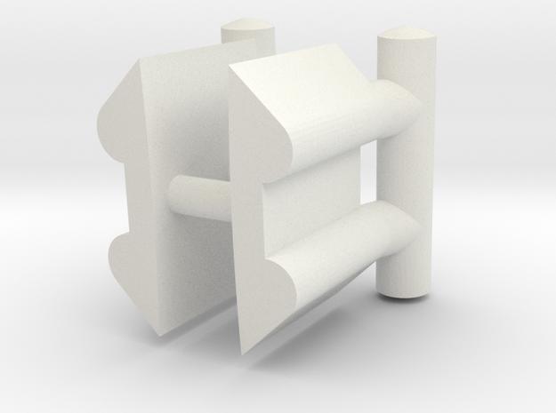 3213 - Bollards FWD (2pcs) in White Natural Versatile Plastic