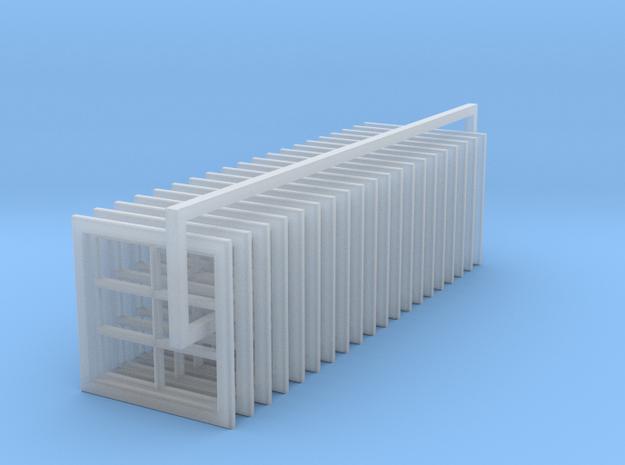 6 Pane Barn Window 31x30 (20) in Smooth Fine Detail Plastic