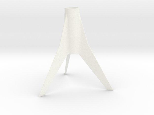 Classic Astron Drifter-style Fin Unit for BT-50 in White Processed Versatile Plastic