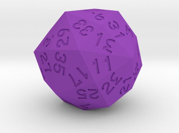 Dozenal d40 [d48] in Purple Processed Versatile Plastic
