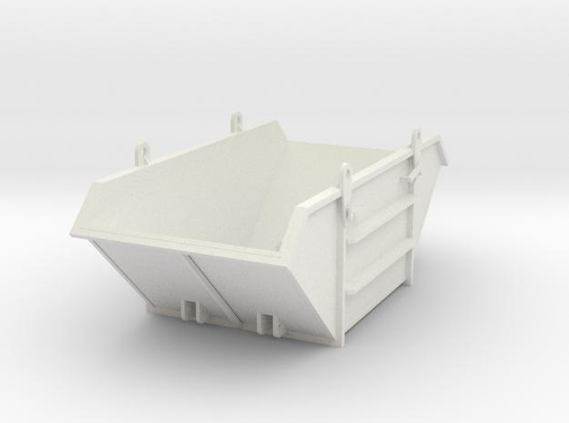 Dump Container in White Natural Versatile Plastic: 1:75