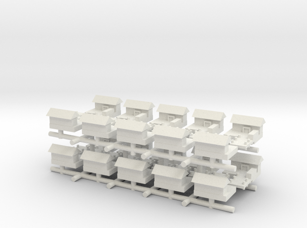 Minor Naval Port (x20) in White Natural Versatile Plastic