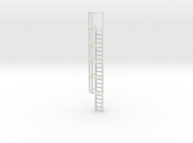 20ft Cage Ladder 1/64 in White Natural Versatile Plastic