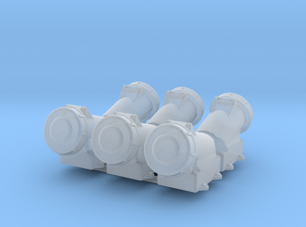 high-voltage socket  6x in Smooth Fine Detail Plastic: 1:20