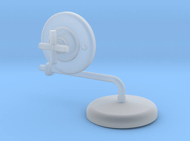 Shower Head and Valve: X Modern  in Smooth Fine Detail Plastic
