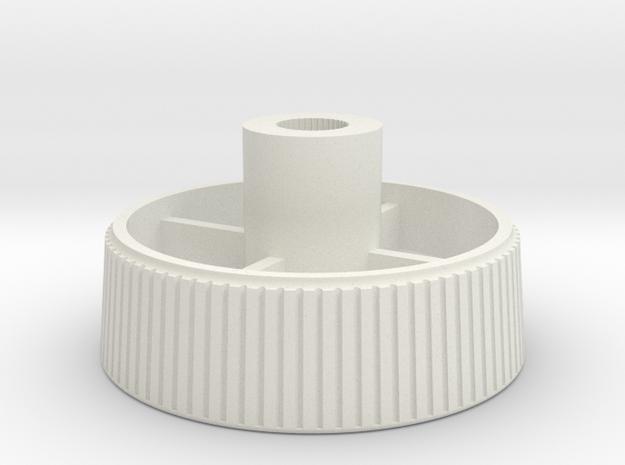 Olympia Traveller De Luxe Platen Knob in White Natural Versatile Plastic