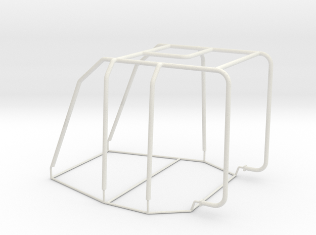 Cage Mooring Tug in White Natural Versatile Plastic: 1:32
