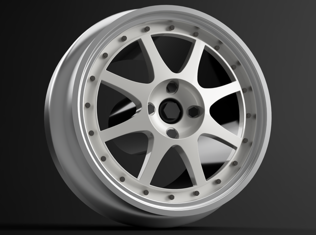 1/64 scale Ford RS 200 wheels 8mm Dia - 4 sets in Smoothest Fine Detail Plastic
