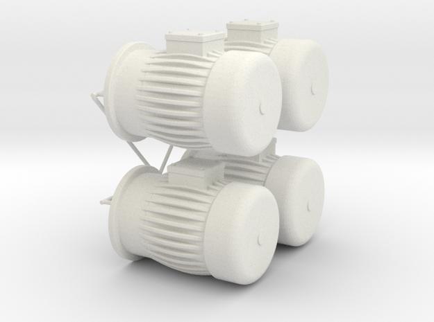 engine dummy Typ B in White Natural Versatile Plastic