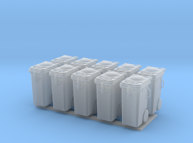Garbage can 10x in Smooth Fine Detail Plastic: 1:50