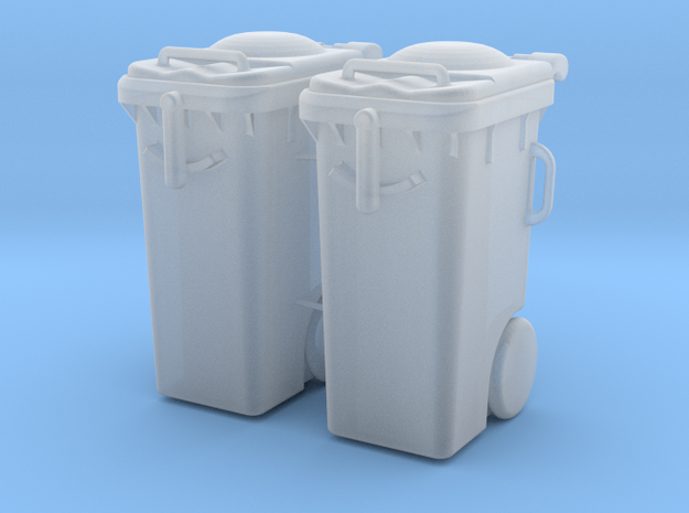 Garbage can 2x in Smooth Fine Detail Plastic: 1:32