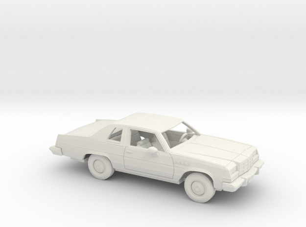 1/25 1976-79 Buick Electra Coupe Kit in White Natural Versatile Plastic