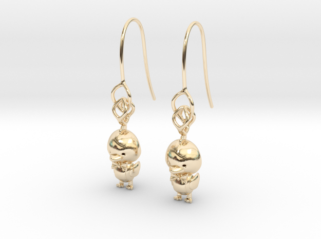 Ducky earring in 14k Gold Plated Brass