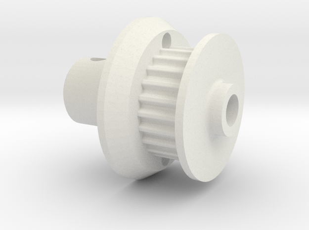 Tomy Intruder direct spur gear adapter in White Natural Versatile Plastic