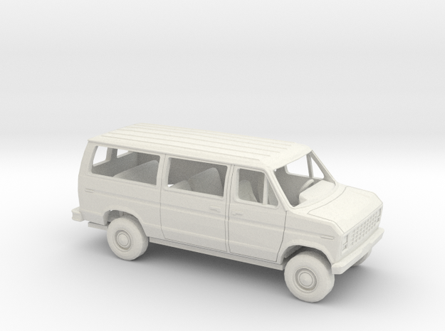 1/43 1975 -91 Ford E Van Sliding Side Door Kit in White Natural Versatile Plastic