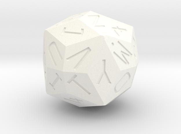 Alphanumeric d36 in White Processed Versatile Plastic