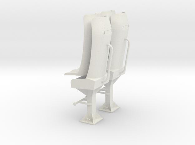 Bucket seat  2x in White Natural Versatile Plastic: 1:25