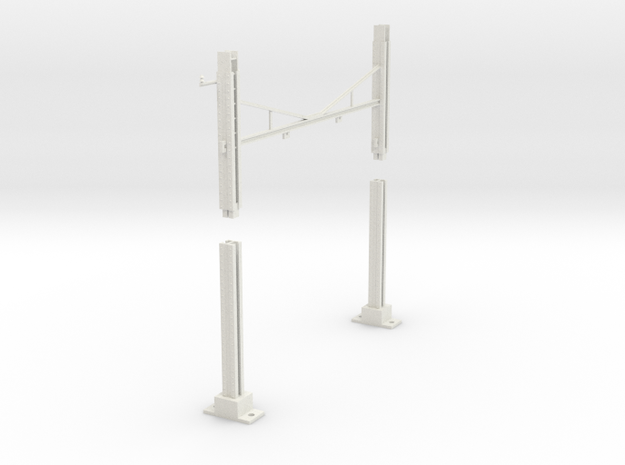 PRR MODULAR K BRACE CATENARY 2T BASE TANGENT HANG in White Natural Versatile Plastic