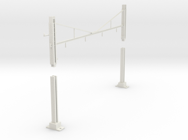 PRR MODULAR K BRACE CATENARY 4T BASE TANGENT 225 in White Natural Versatile Plastic