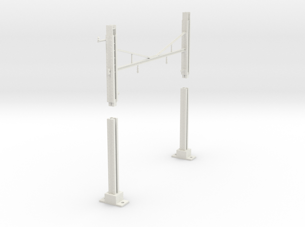 PRR MODULAR K BRACE CATENARY 2T BASE TANGENT 225 in White Natural Versatile Plastic