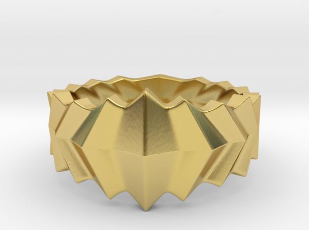 Ridge Armor Ring in Polished Brass: 8 / 56.75