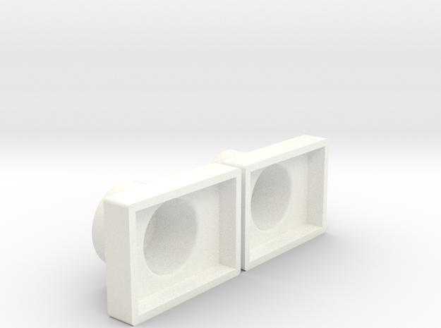 Button Bases in White Processed Versatile Plastic