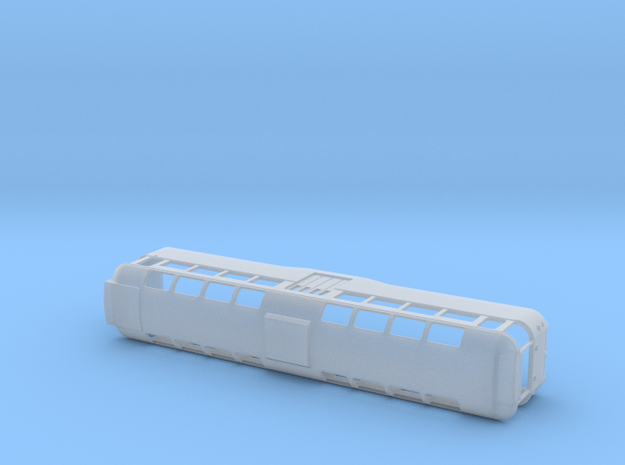 Blackpool Tram Twin Car Motor 676 Perm Coupled - N in Smooth Fine Detail Plastic