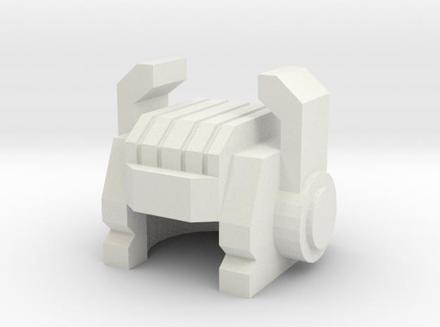 Robohelmet: Pinchy Principal in White Natural Versatile Plastic