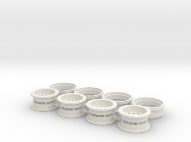Beadlock Typ3 1.0 SCX24 Micro Crawler Scaler in White Natural Versatile Plastic