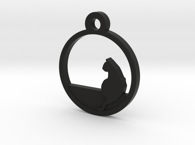 Cat Charm Necklace n5 in Black Natural Versatile Plastic