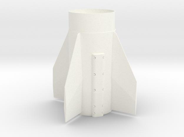 Patriot Missile Fin Unit BT60 for 18mm motors in White Processed Versatile Plastic