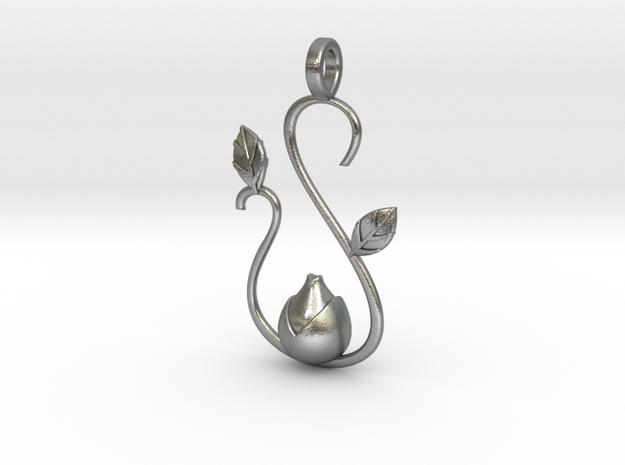 Spring pendant 3d printed