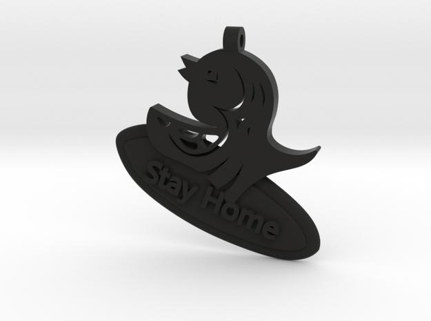 Amabie Surf Japanese Pendant in Black Natural Versatile Plastic