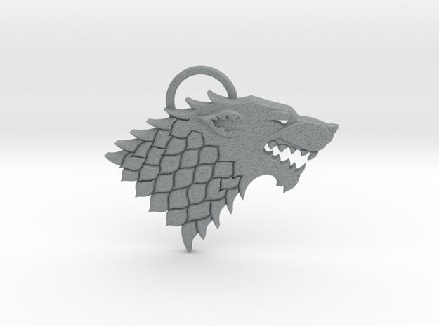 Stark Pendant in Polished Metallic Plastic