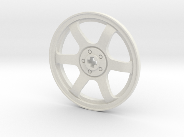 Wheel Cover 16_43.2mm in White Natural Versatile Plastic