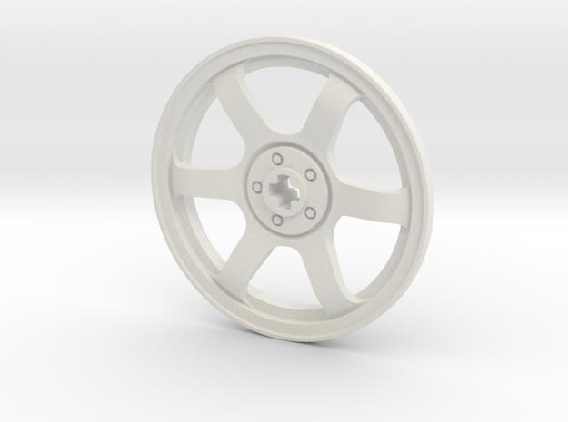 Wheel Cover 16_43.2mm in White Natural Versatile Plastic