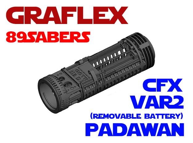 Graflex 89Sabers - Padawan Var2 CFX in White Natural Versatile Plastic