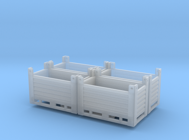 Steel container 4x in Smooth Fine Detail Plastic: 1:75